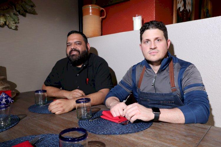 From left: Chefs Frank Medina & Steve Kessler/photo by Bryce Law